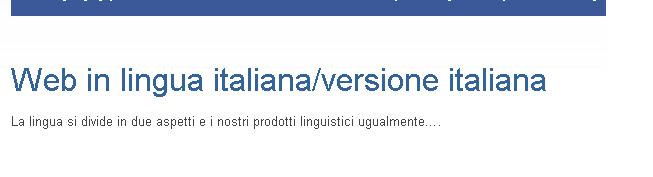 Italská verze našeho webu v zahraničí. Jsme pro kvalitní práci a tu se snažíme propagovat prostřednictvím našich webových stránek po celém světě.